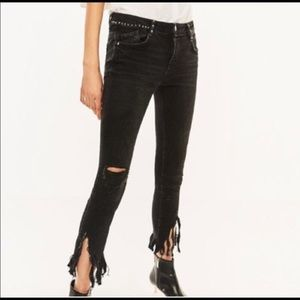 Zara Distressed Studded Jeans